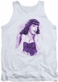 Bettie Page tank top Lacy Page mens white