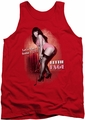 Bettie Page tank top Let'S Have Some Fun mens red