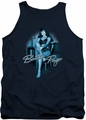 Bettie Page tank top Patient Pin Up mens navy