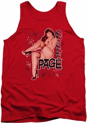 Bettie Page tank top Retro Hot mens red