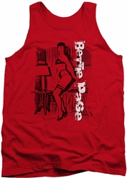 Bettie Page tank top Shake It mens red