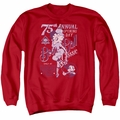Betty Boop adult crewneck sweatshirt Boop Ball red