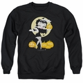 Betty Boop adult crewneck sweatshirt Vamp Pumkins black