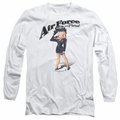 Betty Boop adult long-sleeved shirt Air Force Boop white
