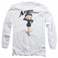 Betty Boop adult long-sleeved shirt Army Boop white