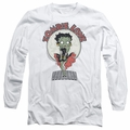 Betty Boop adult long-sleeved shirt Breezy Zombie Love white