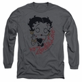 Betty Boop adult long-sleeved shirt Classic Zombie charcoal