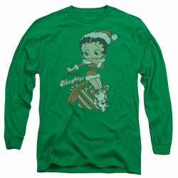 Betty Boop adult long-sleeved shirt Define Naughty kelly green