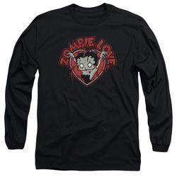 Betty Boop adult long-sleeved shirt Heart You Forever black