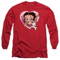 Betty Boop adult long-sleeved shirt I Love Betty red