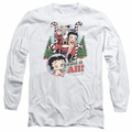 Betty Boop adult long-sleeved shirt I Want It All white