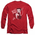 Betty Boop adult long-sleeved shirt Lover Girl red