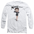 Betty Boop adult long-sleeved shirt Navy Boop white