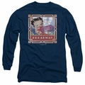 Betty Boop adult long-sleeved shirt On Broadway navy