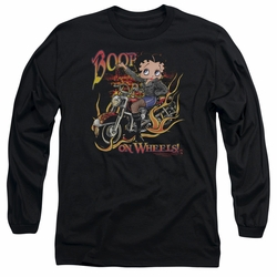 Betty Boop adult long-sleeved shirt On Wheels black