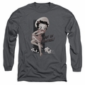 Betty Boop adult long-sleeved shirt Out Of Control charcoal