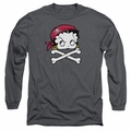 Betty Boop adult long-sleeved shirt Pirate charcoal