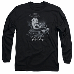 Betty Boop adult long-sleeved shirt Storm Rider black