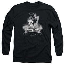 Betty Boop adult long-sleeved shirt Street Angel black
