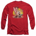 Betty Boop adult long-sleeved shirt Surf red