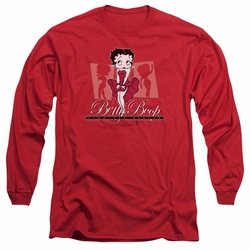 Betty Boop adult long-sleeved shirt Timeless Beauty red