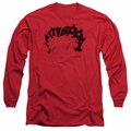 Betty Boop adult long-sleeved shirt Word Hair red