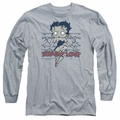 Betty Boop adult long-sleeved shirt Zombie Pinup athletic heather