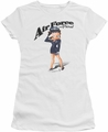 Betty Boop juniors sheer t-shirt Air Force Boop white