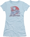 Betty Boop juniors sheer t-shirt All American Biker light blue