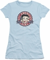 Betty Boop juniors sheer t-shirt All American Girl light blue