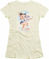 Betty Boop juniors sheer t-shirt All Ashore cream