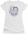 Betty Boop juniors sheer t-shirt Aloha white