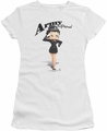 Betty Boop juniors sheer t-shirt Army Boop white