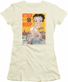 Betty Boop juniors sheer t-shirt Attack of 50 Foot Boop cream