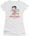 Betty Boop juniors sheer t-shirt Beach Betty white