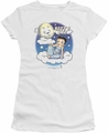Betty Boop juniors sheer t-shirt Betty Bye white