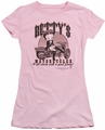 Betty Boop juniors sheer t-shirt Betty's Motorcycles pink