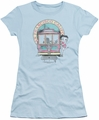 Betty Boop juniors sheer t-shirt Betty's Trolley light blue