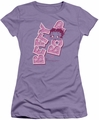 Betty Boop juniors sheer t-shirt Betty Tilt lavendar