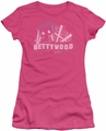 Betty Boop juniors sheer t-shirt Bettywood hot pink