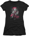 Betty Boop juniors sheer t-shirt Biker Babe black