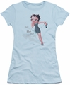 Betty Boop juniors sheer t-shirt Blah Blah Blah light blue