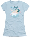 Betty Boop juniors sheer t-shirt Boop Bubbles light blue