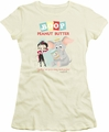 Betty Boop juniors sheer t-shirt Boop Peanut Butter cream