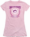 Betty Boop juniors sheer t-shirt Boop University pink