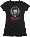 Betty Boop juniors sheer t-shirt Born To Ride black