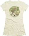 Betty Boop juniors sheer t-shirt California cream