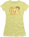 Betty Boop juniors sheer t-shirt Can Can banana