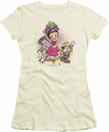 Betty Boop juniors sheer t-shirt Celebration cream