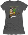 Betty Boop juniors sheer t-shirt Chimney charcoal